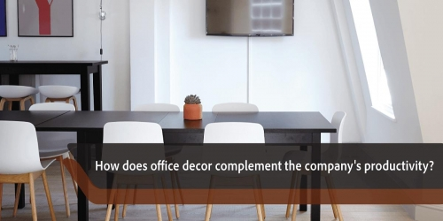 How does office decor complement the company's productivity?